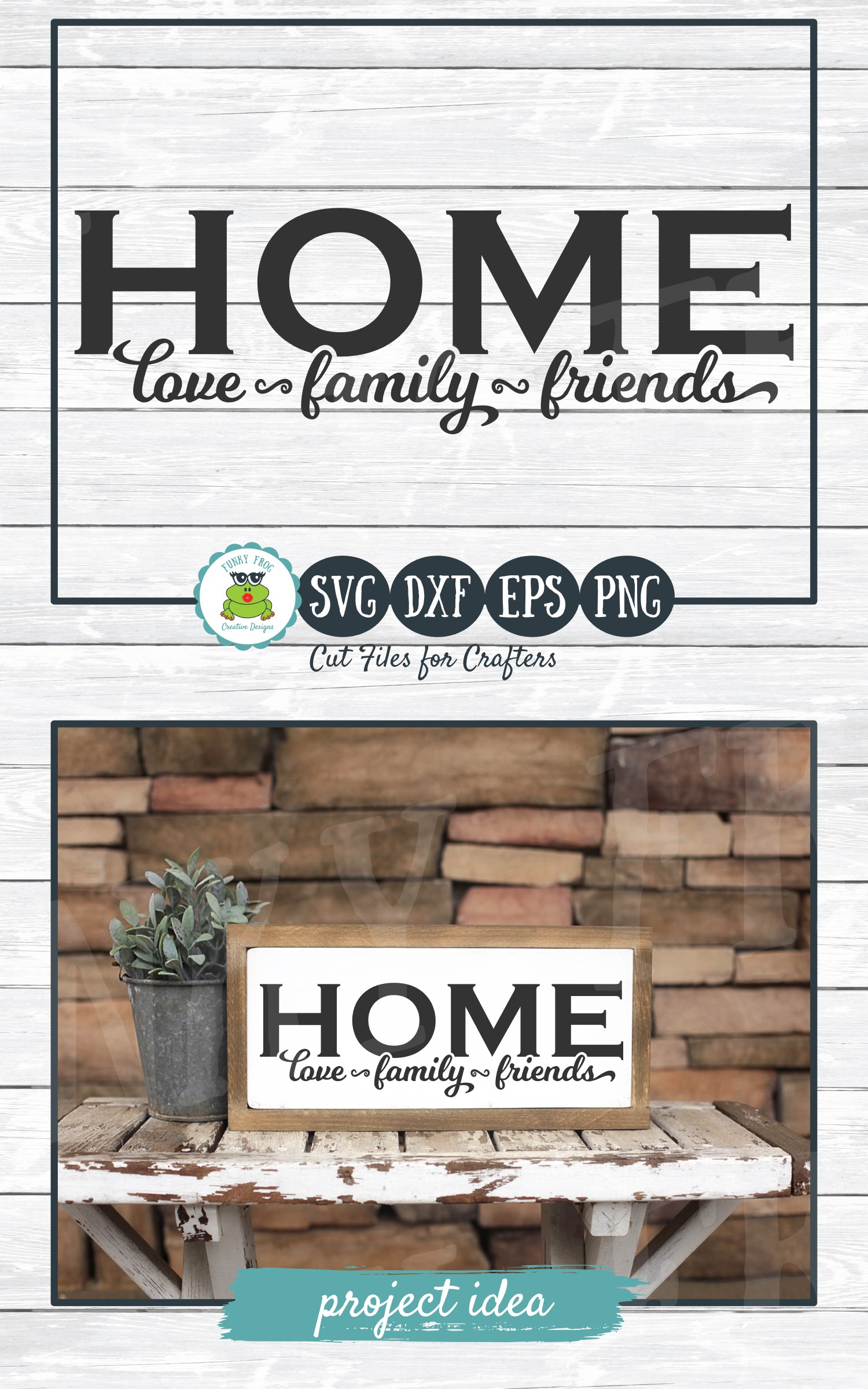 Home Love, Family, Friends - SVG Cut File for Crafters example image 4