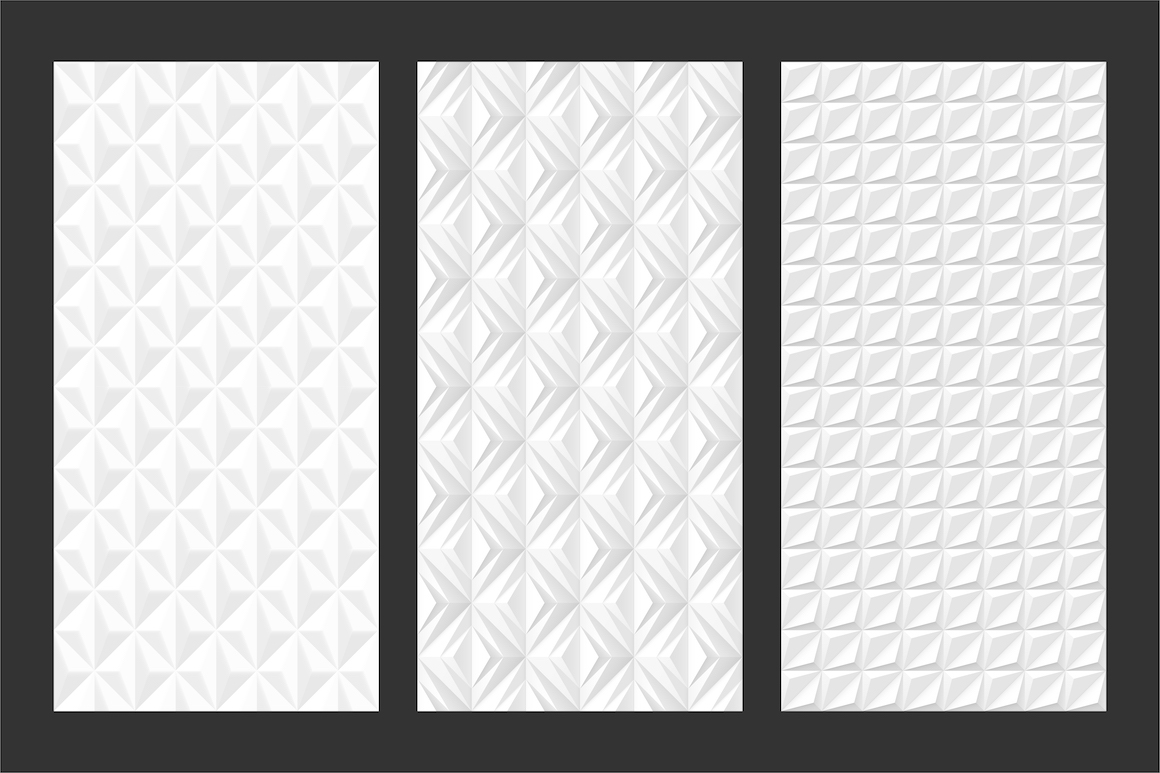 White and grey seamless 3d textures example image 8
