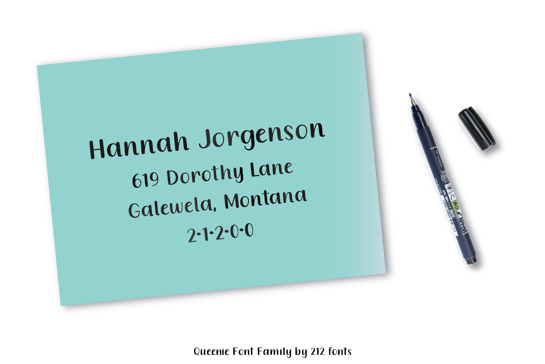 Queenie Serif Handwritten Sans Serif Font example image 4