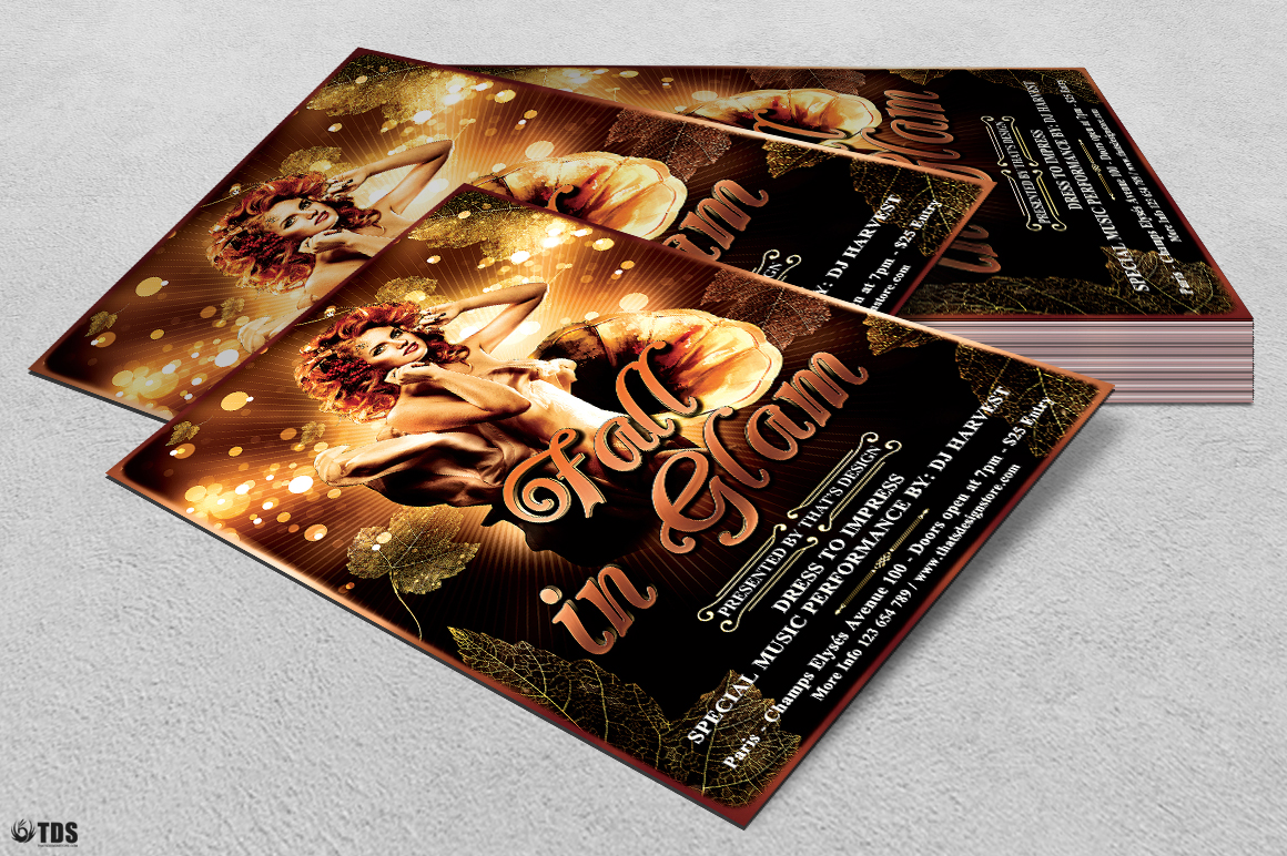 Fall in Glam Flyer Template V2 example image 4