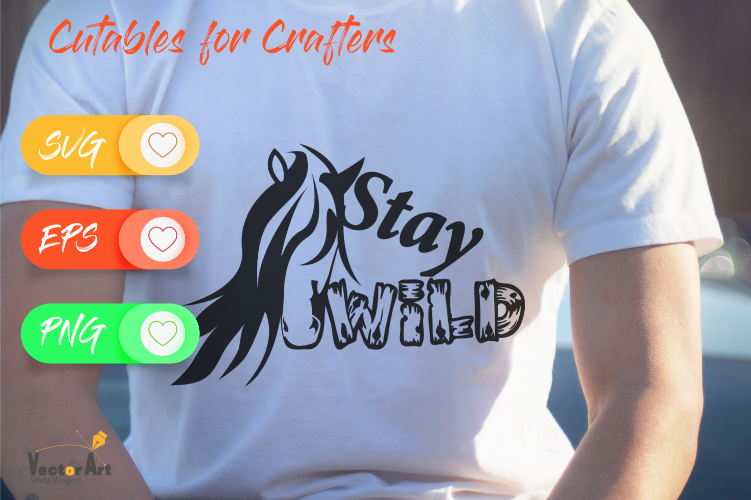 Stay Wild - Horsehead and Quote - Cut File for Crafters example image 2