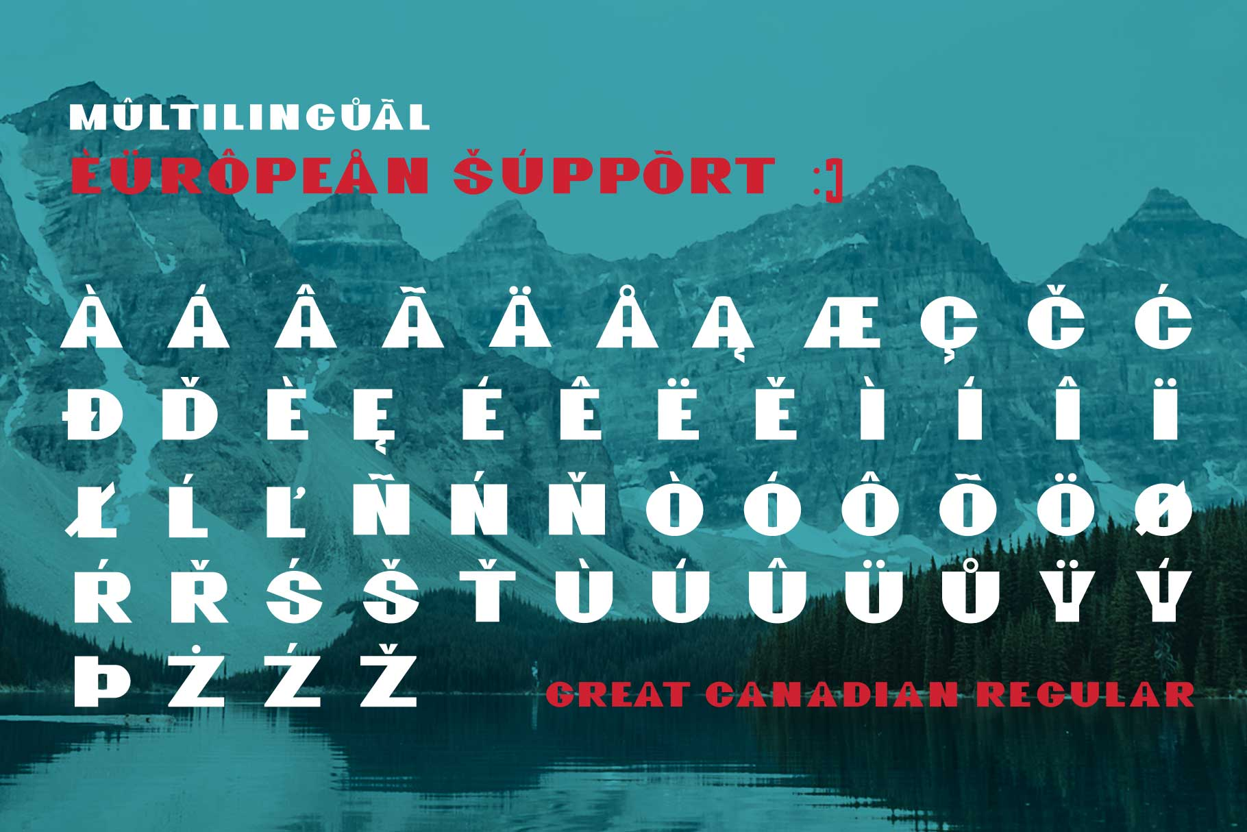 GreatCanadian-font family example image 5