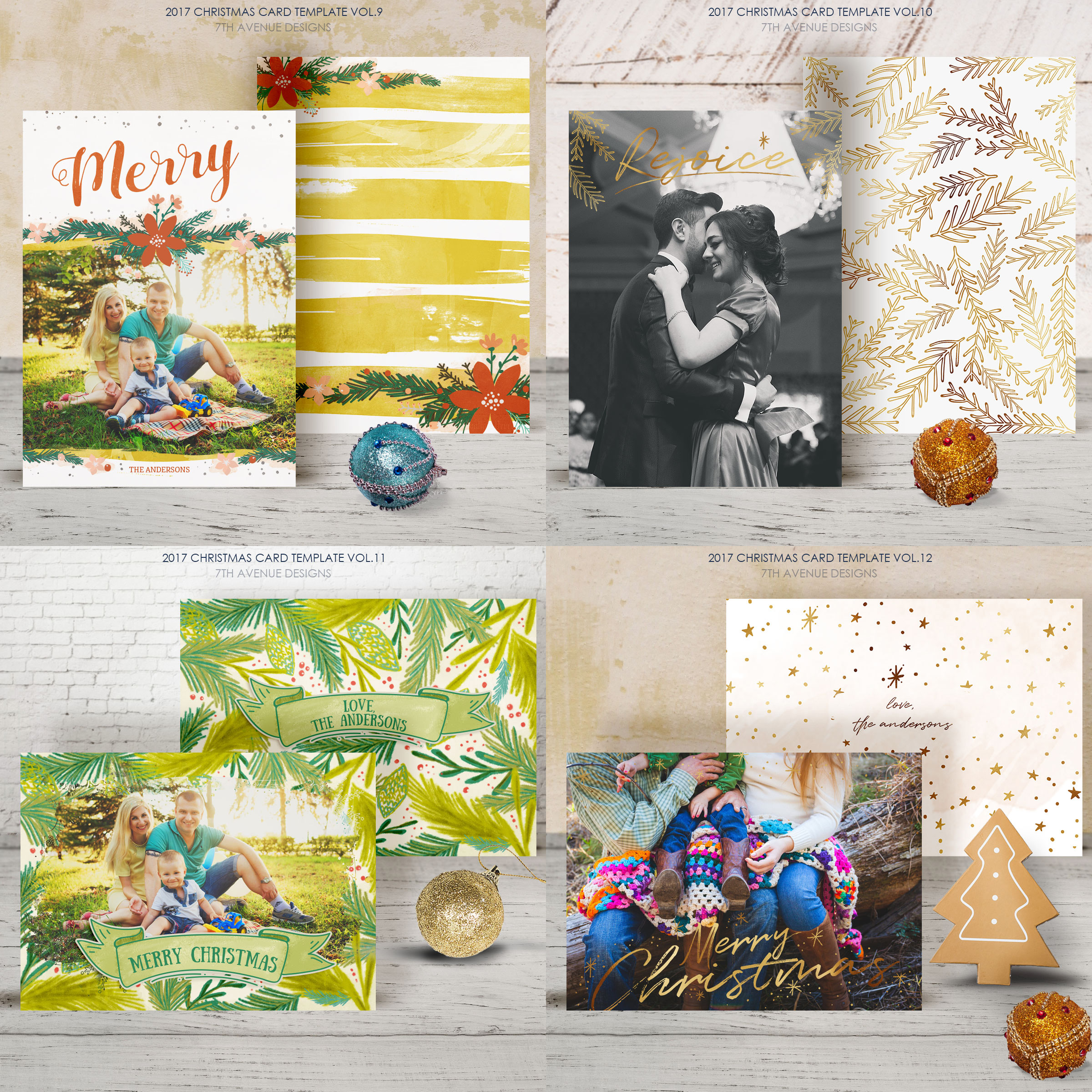 Christmas Cards Template v2 example image 4
