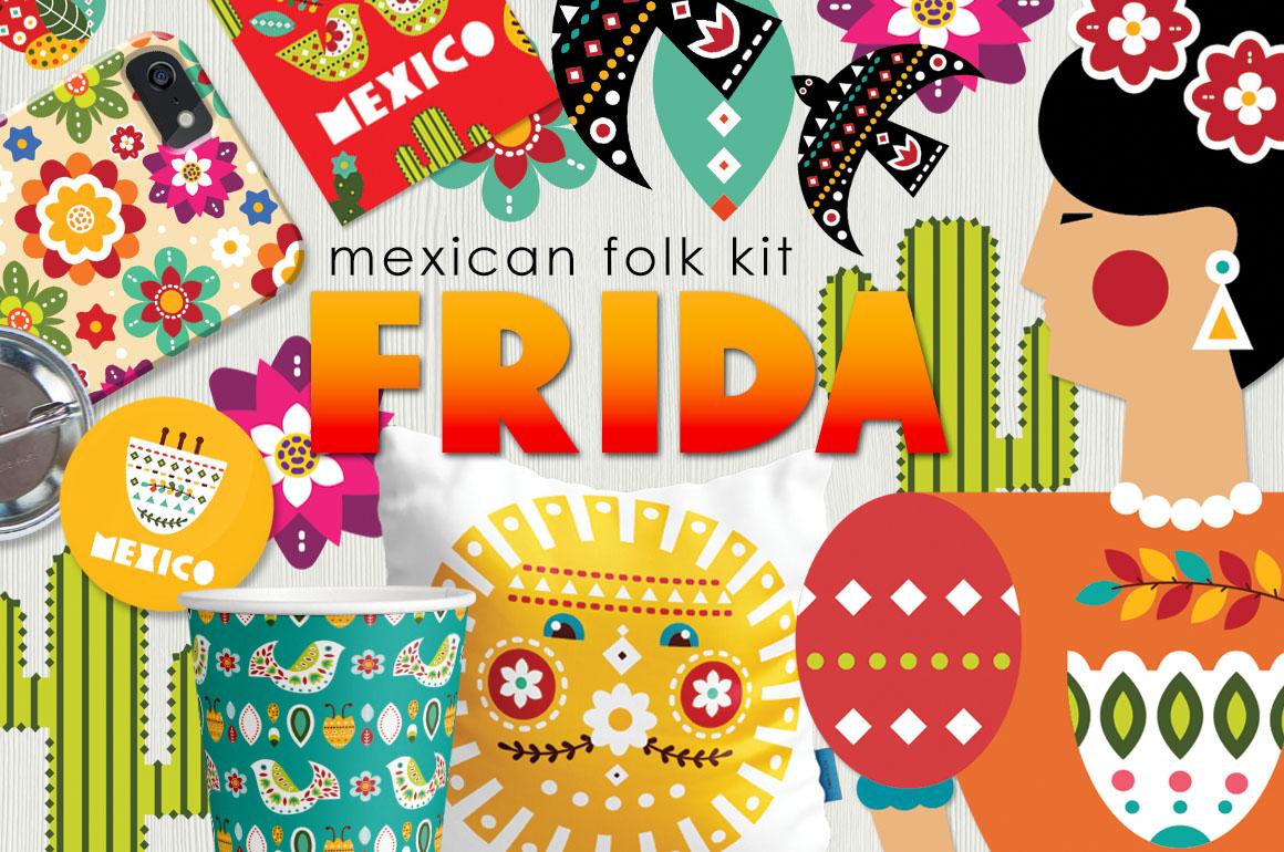 Frida - Mexican folk kit example image 1