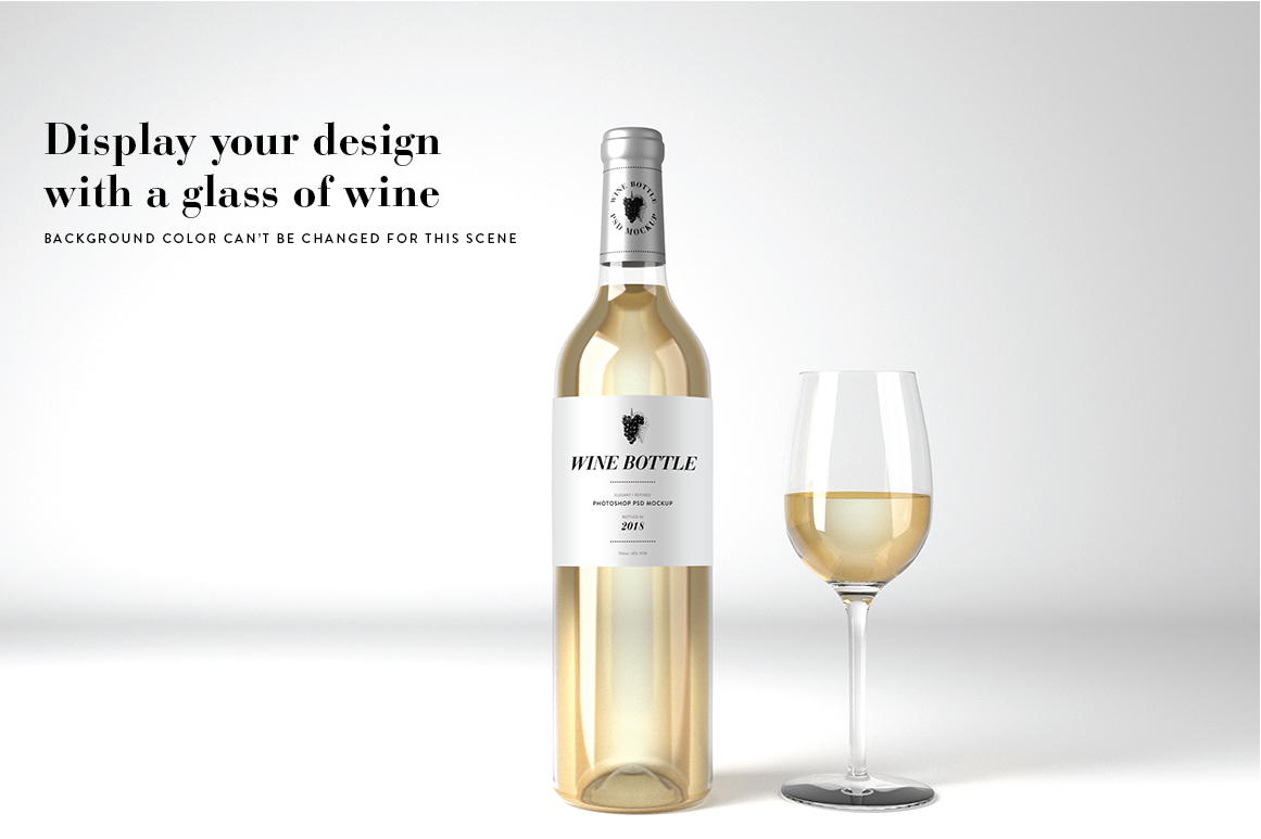 Wine Mockup Set - Photoshop PSD example image 4
