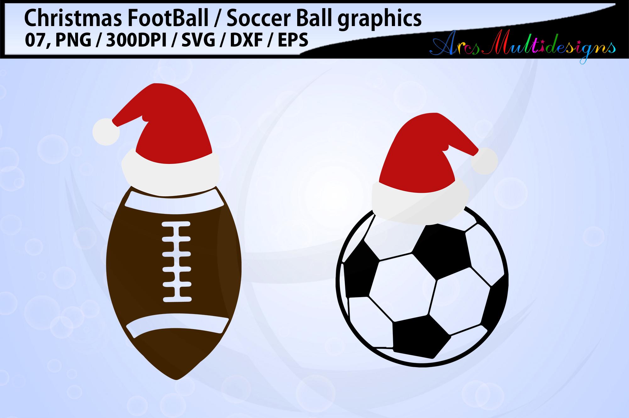 Christmas football svg / Christmas soccerball svg / vector example image 3