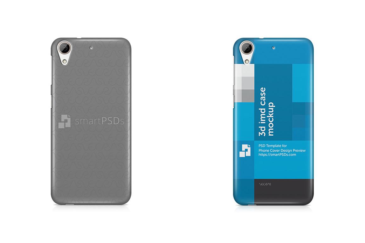 HTC Desire 626 3d IMD Mobile Case Design Mockup 2015 example image 1