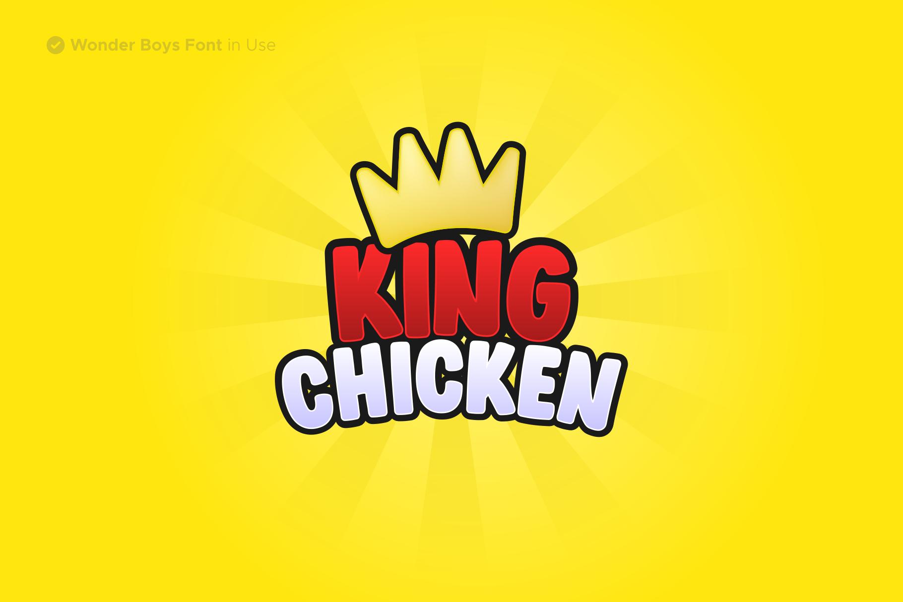 Wonder Boys - Fun Kids Font Display example image 4