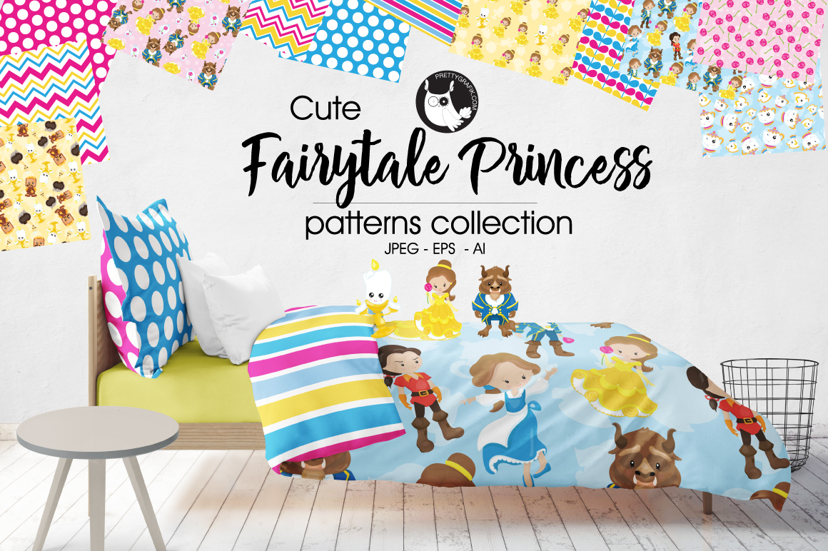 FAIRYTALE-PRINCESS , digital papers example image 1