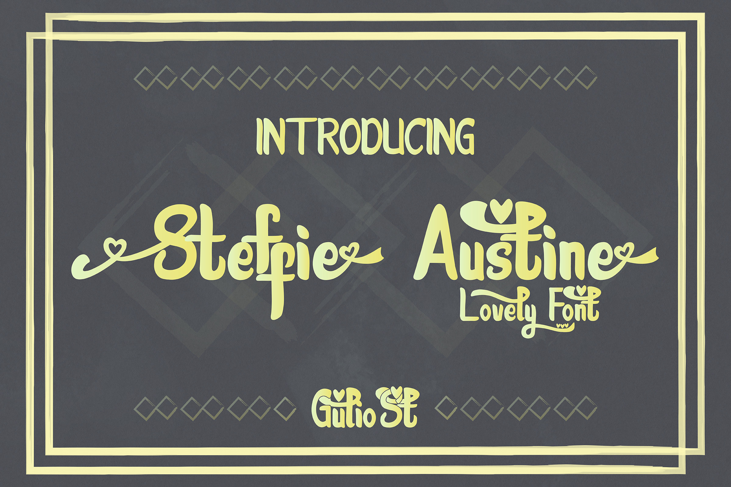 Steffie Austin Lovely Font example image 1