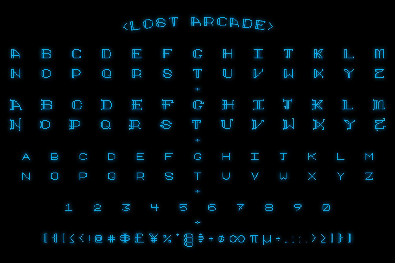 Lost Arcade Sans Adorn example image 2