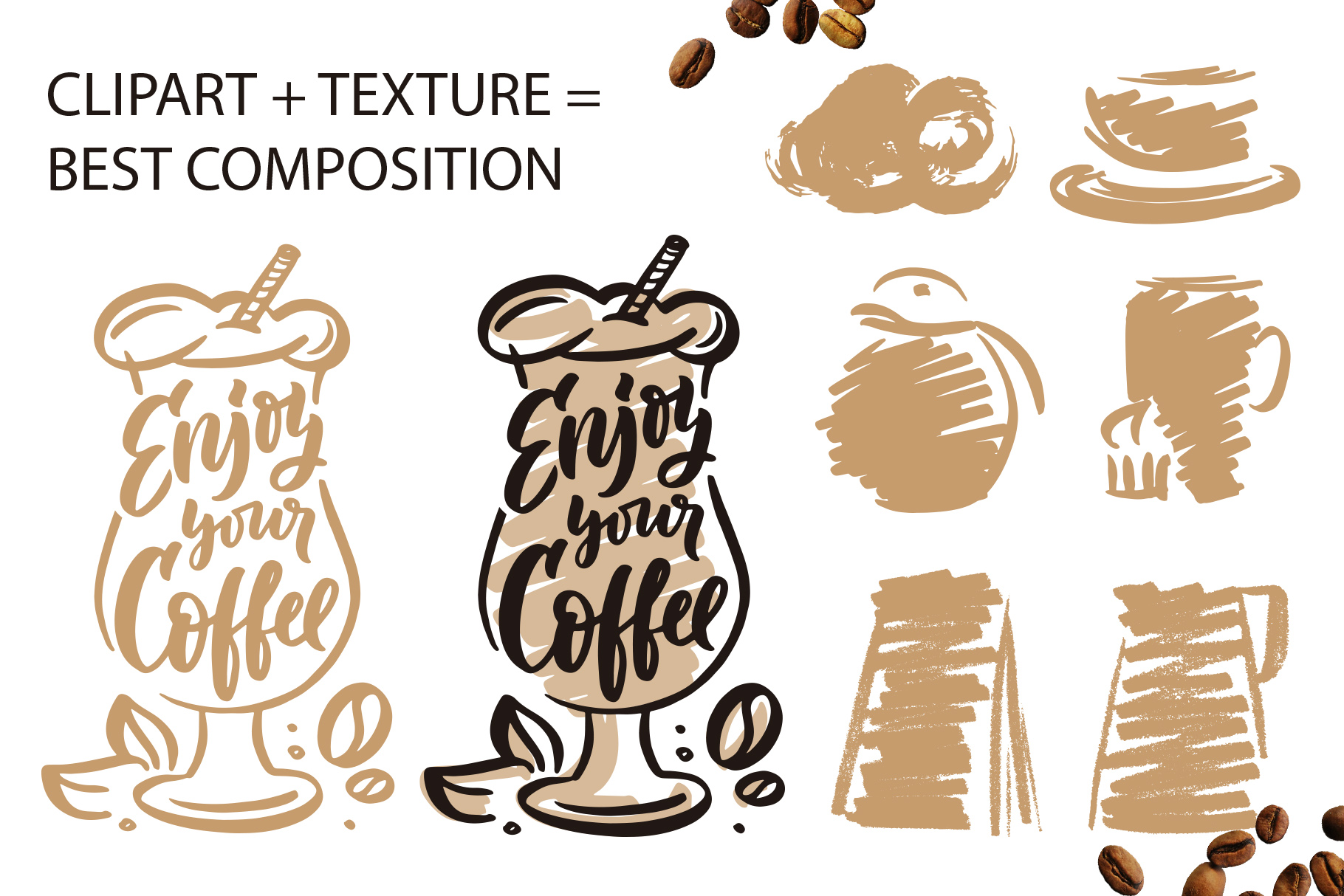 Coffee lettering clipart, vintage example image 6