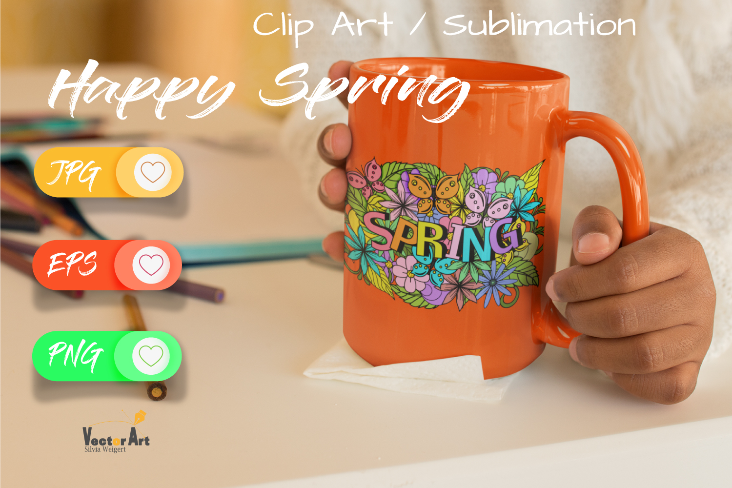 7x Easter and Spring - Mini Bundle - Print and Sublimation example image 6