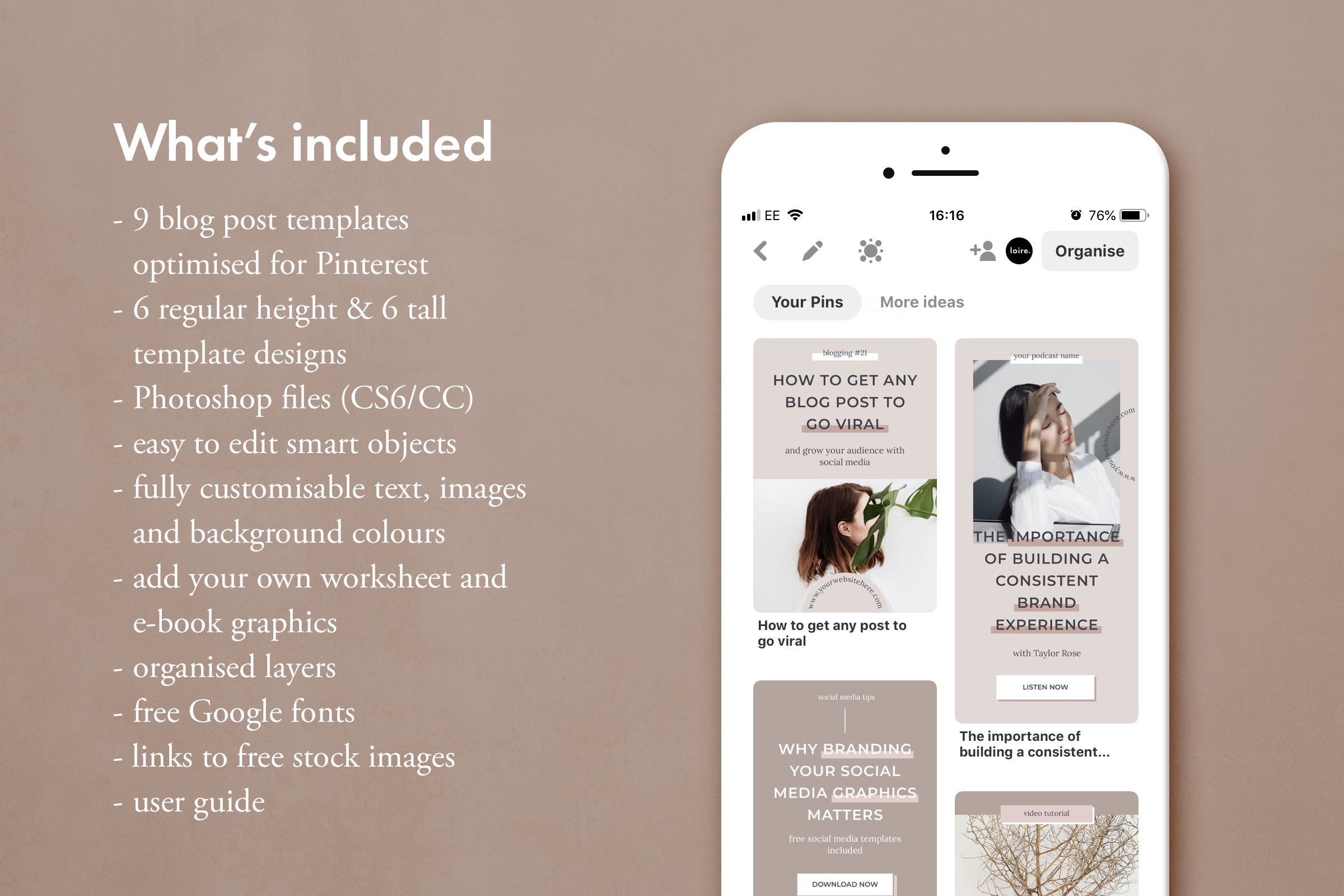 Pinterest marketing graphics template pack example image 2