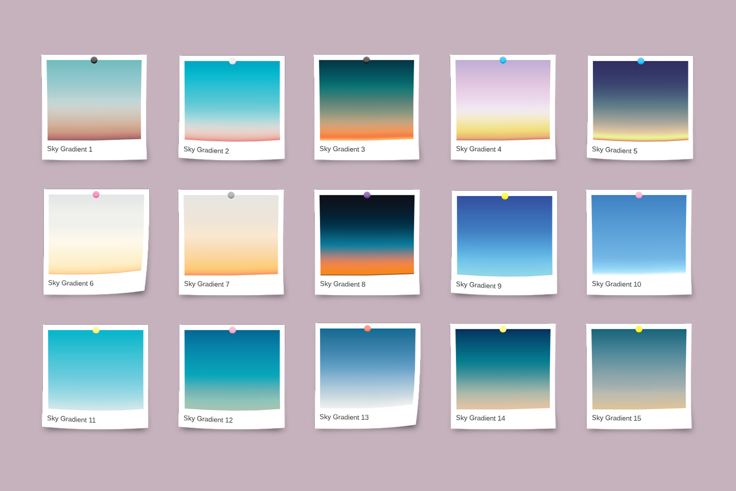 30 Realistic Sky Gradients for Photoshop & Illustrator example image 2