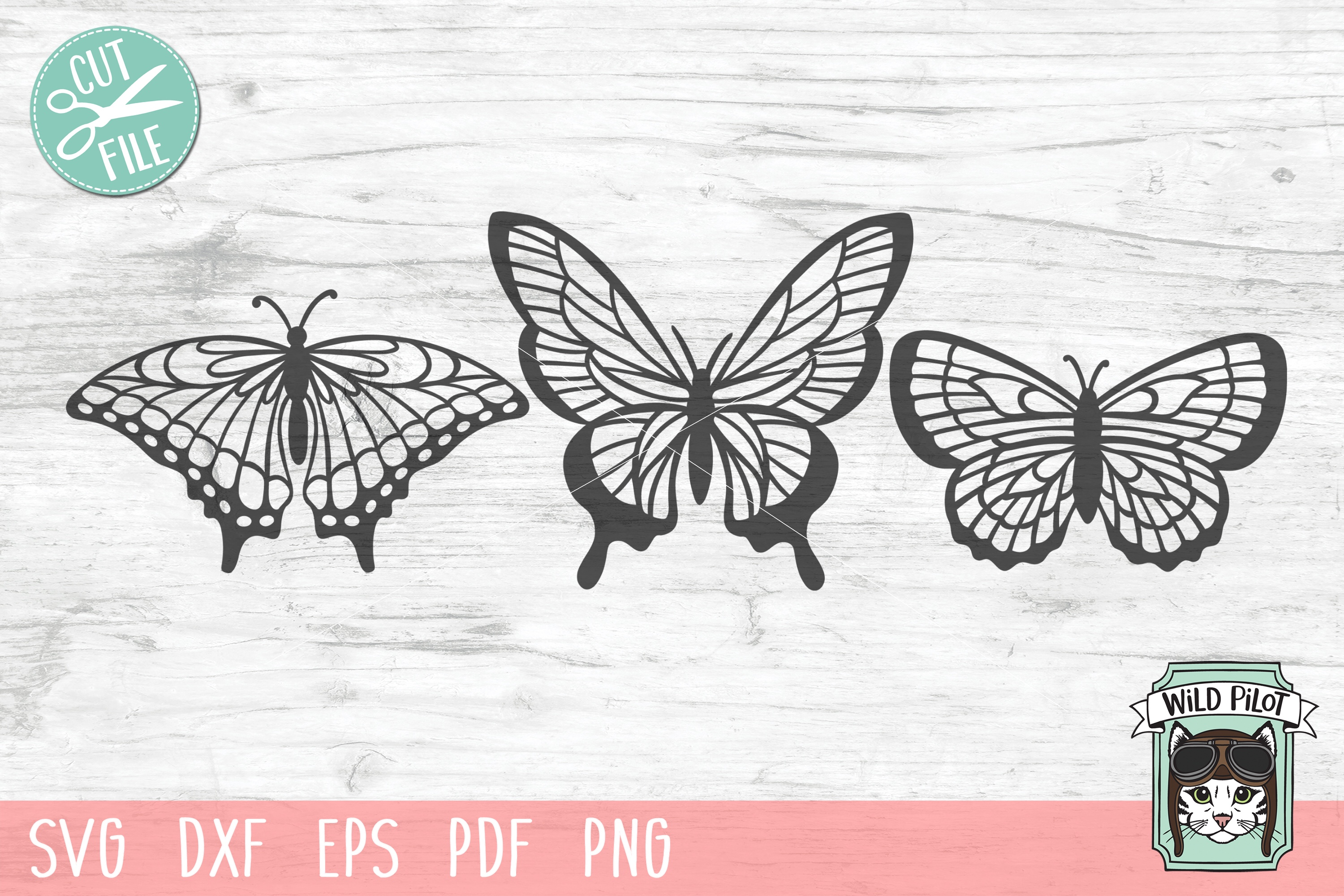 Butterfly SVG file, Butterflies cut file, Insects example image 1