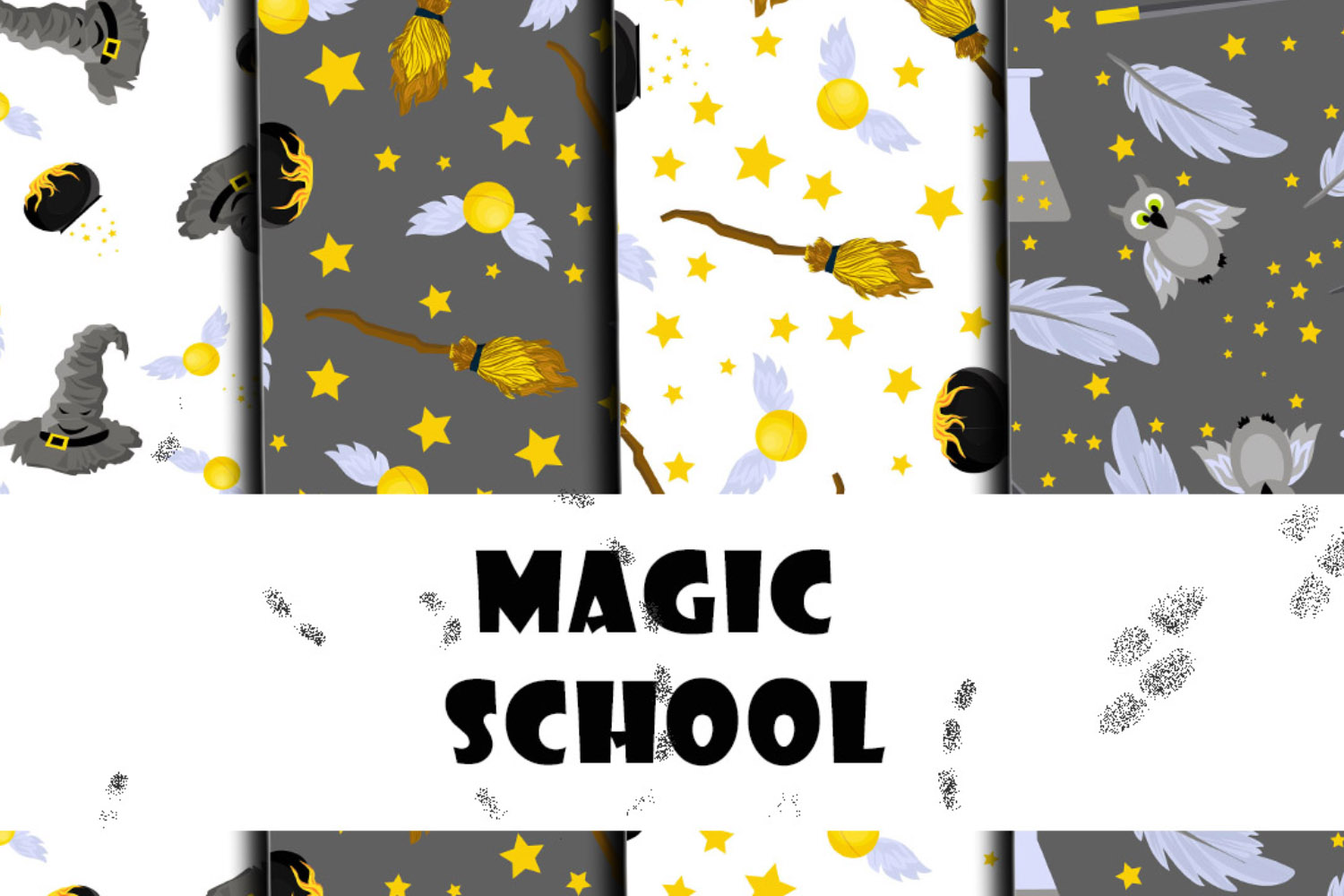 School of Magic Pattern Set Theme - Harry Potter, Hogwarts example image 5