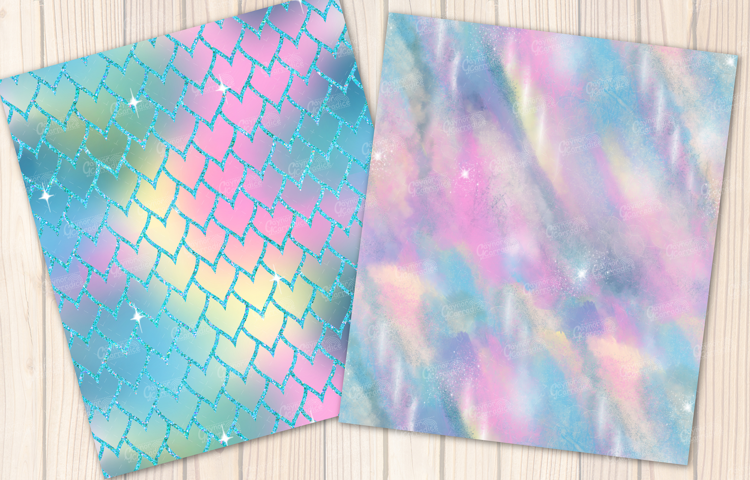 I washed up like this - Summer mermaid Seamless Patterns example image 2