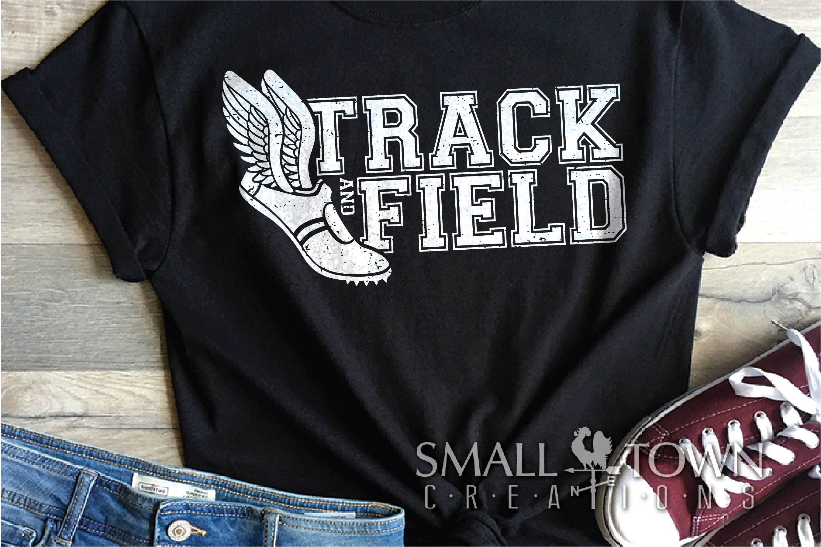Track and Field, Team sport, Track logo, PRINT, CUT, DESIGN example image 2