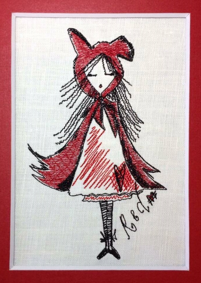 Unique Machine Embroidery Design  'Red'  example image 3