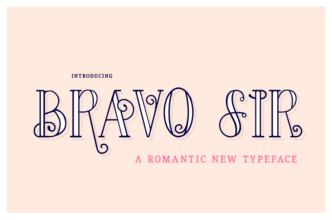 Bravo Sir Font Family example image 1