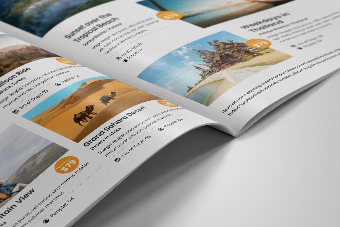 Holiday Travel Brochure Design v5 example image 4