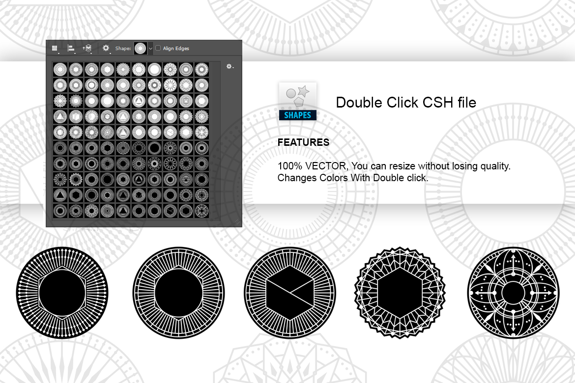 100 Geometric Vector Shapes CSH example image 13