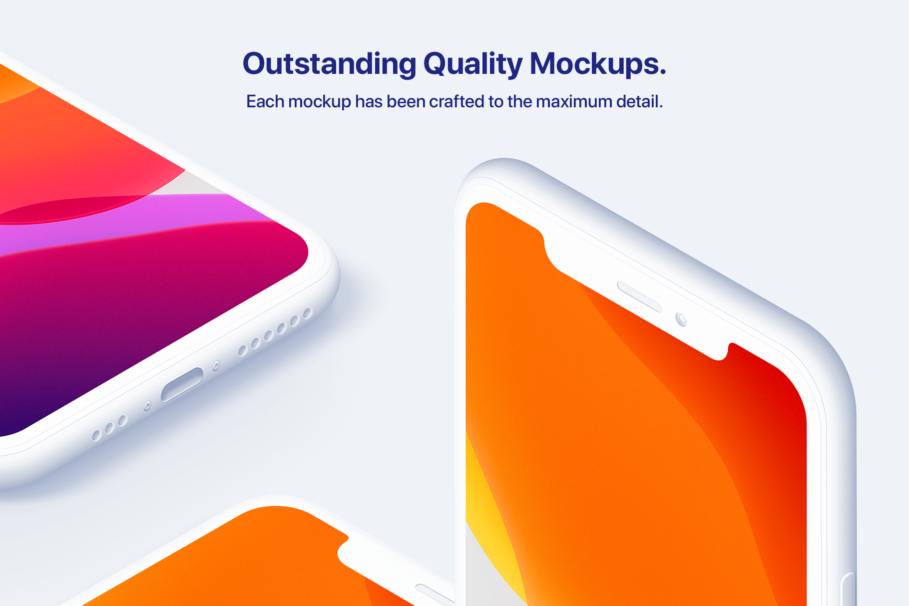 iPhone 11 Pro - 20 Clay Mockups Scenes - PSD example image 5
