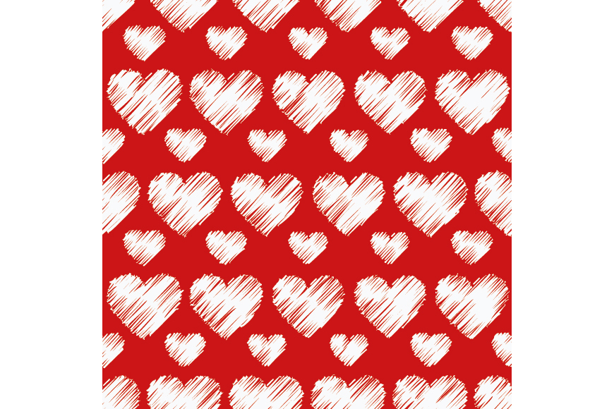Set of 12 backgrounds with Hearts on Valentine's Day.  example image 15