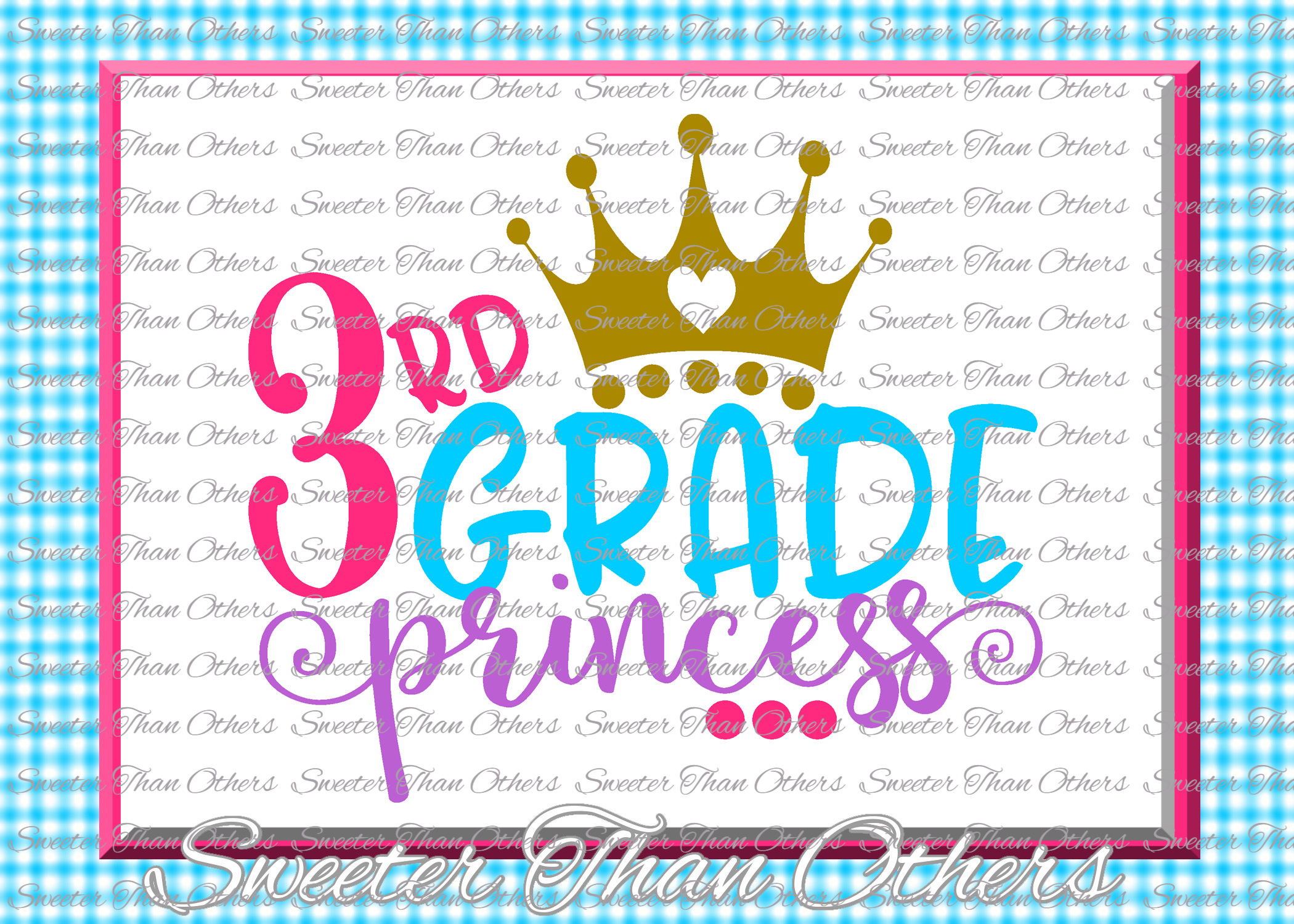 Third Grade Princess SVG 3rd Grade cut file Last Day of example image 1