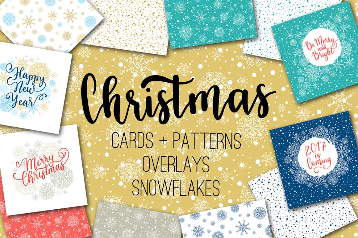 Christmas cards  overlays patterns example image 1