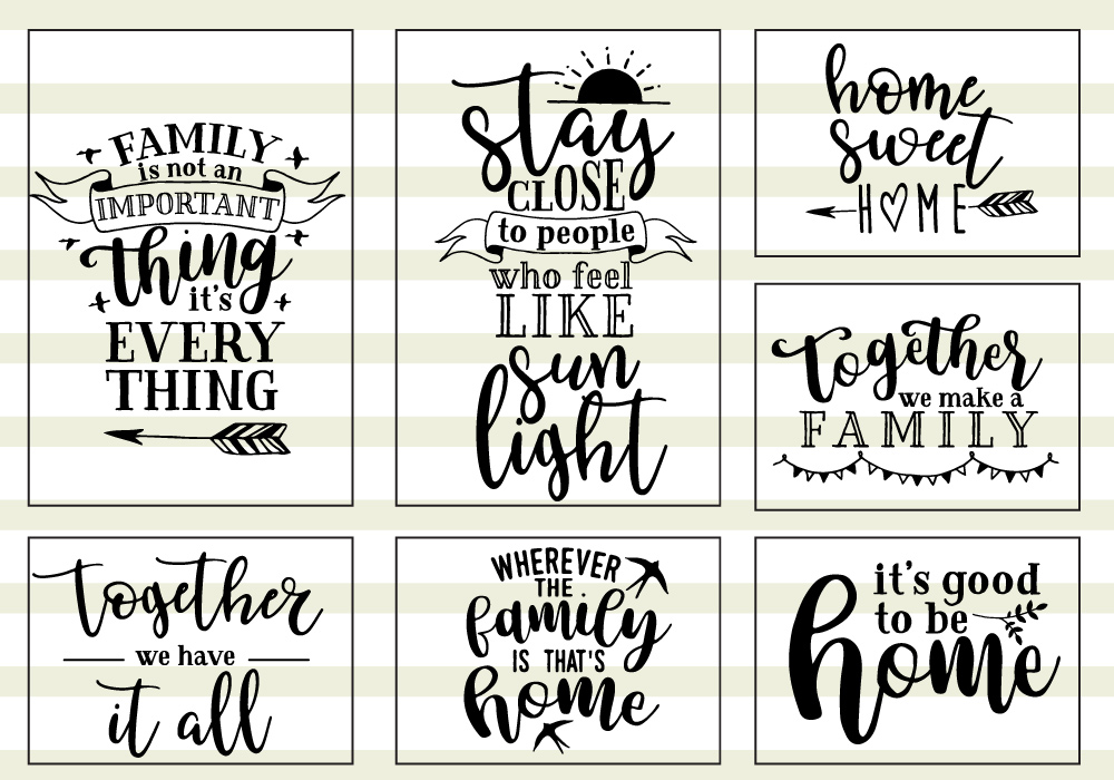 Family Love Quote SVG Cut Files Bundle example image 2