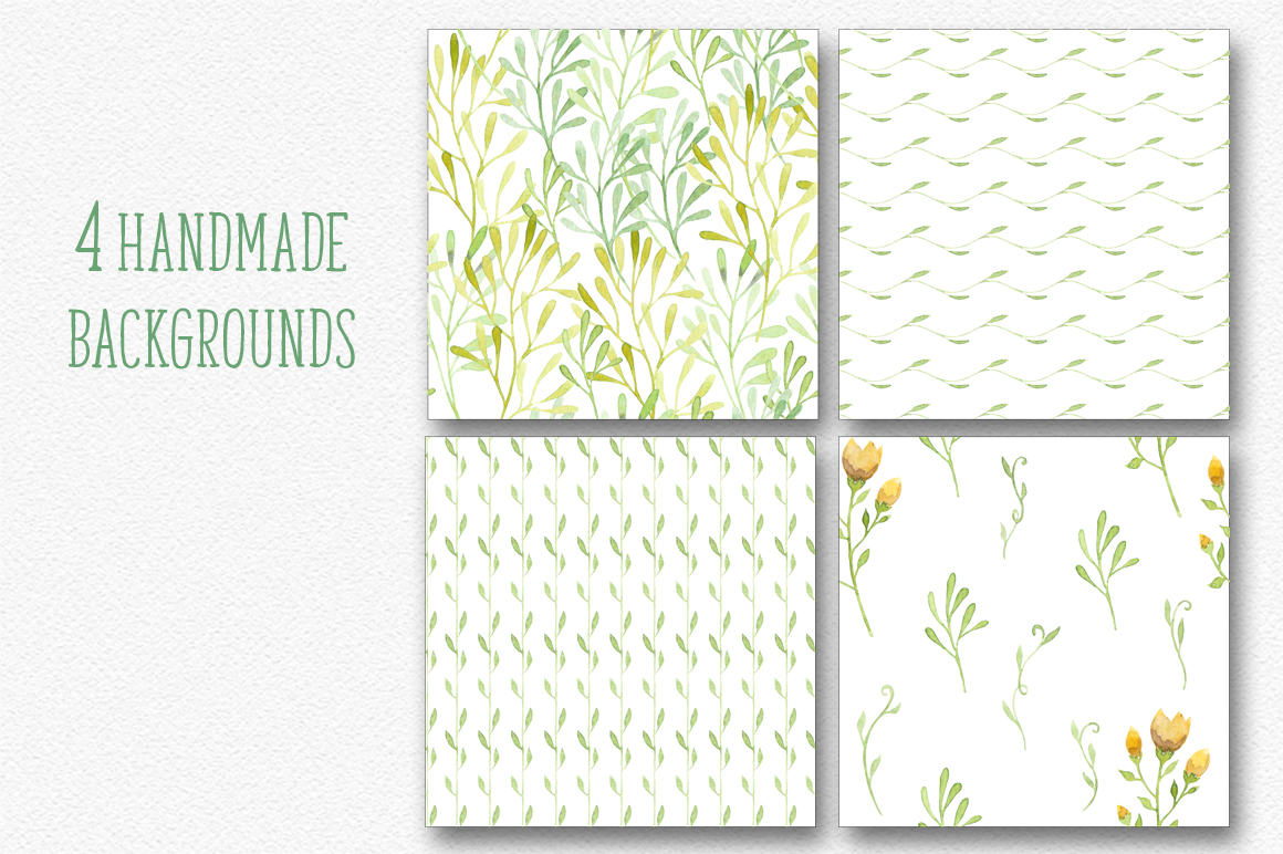 Watercolor floral design resources example image 5
