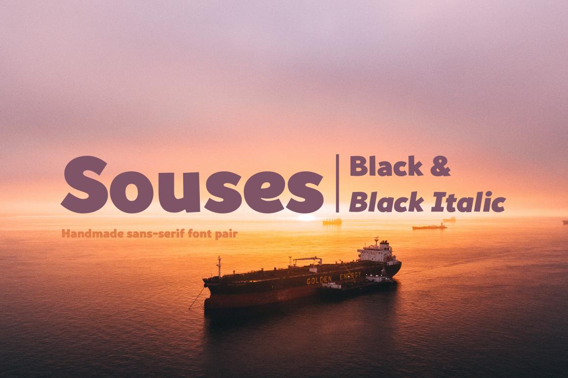 Souses — Black & Black Italic example image 1