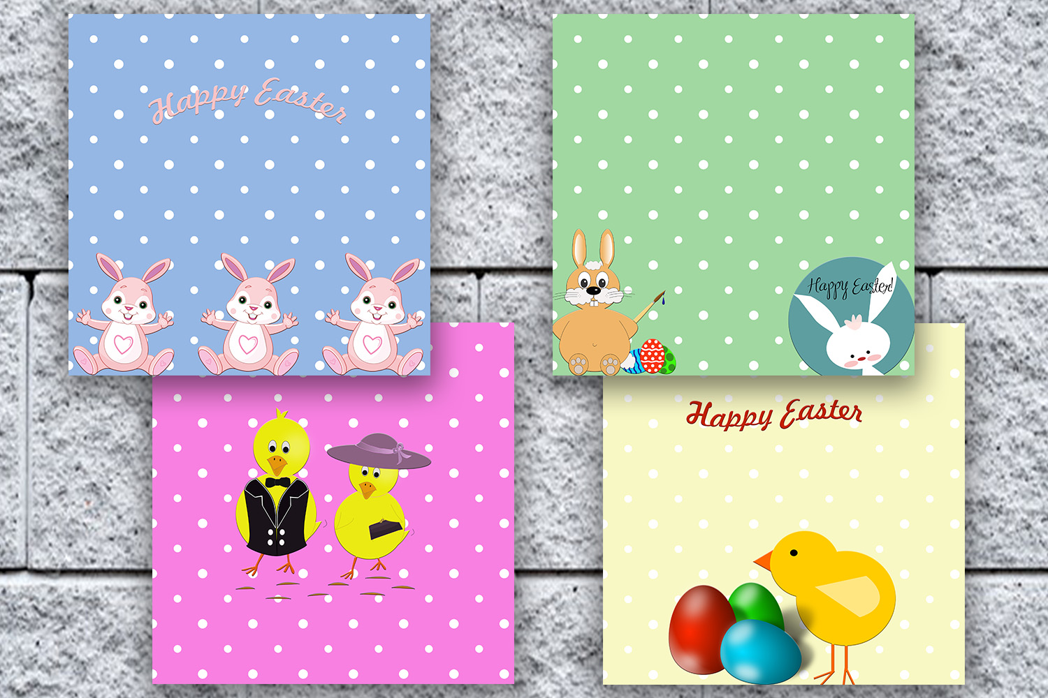 Easter DIGITAL PAPERS, Easter Scrapbook, Happy Easter, 50OFF example image 3