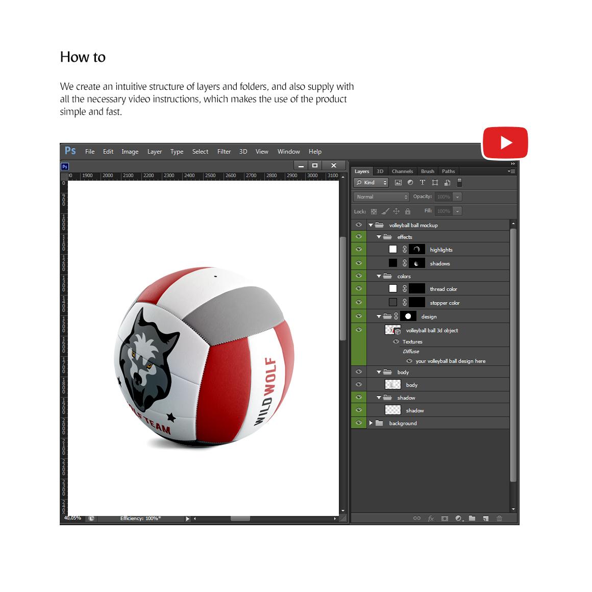 Volleyball Ball Animated Mockup example image 7