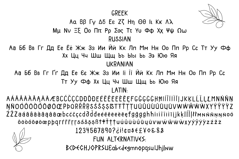ATHENA SANS SERIF FONT - Greek, Cyrillic and Latin Typeface example image 4