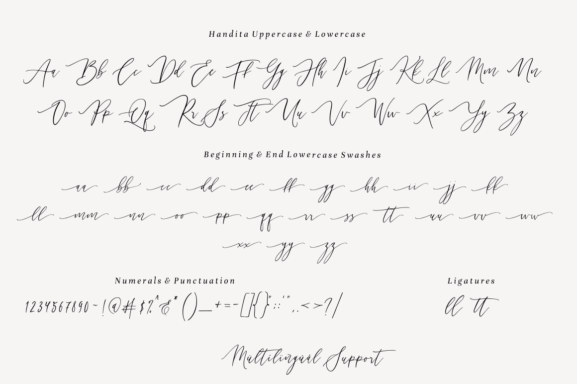 Handita - Calligraphy Font example image 7