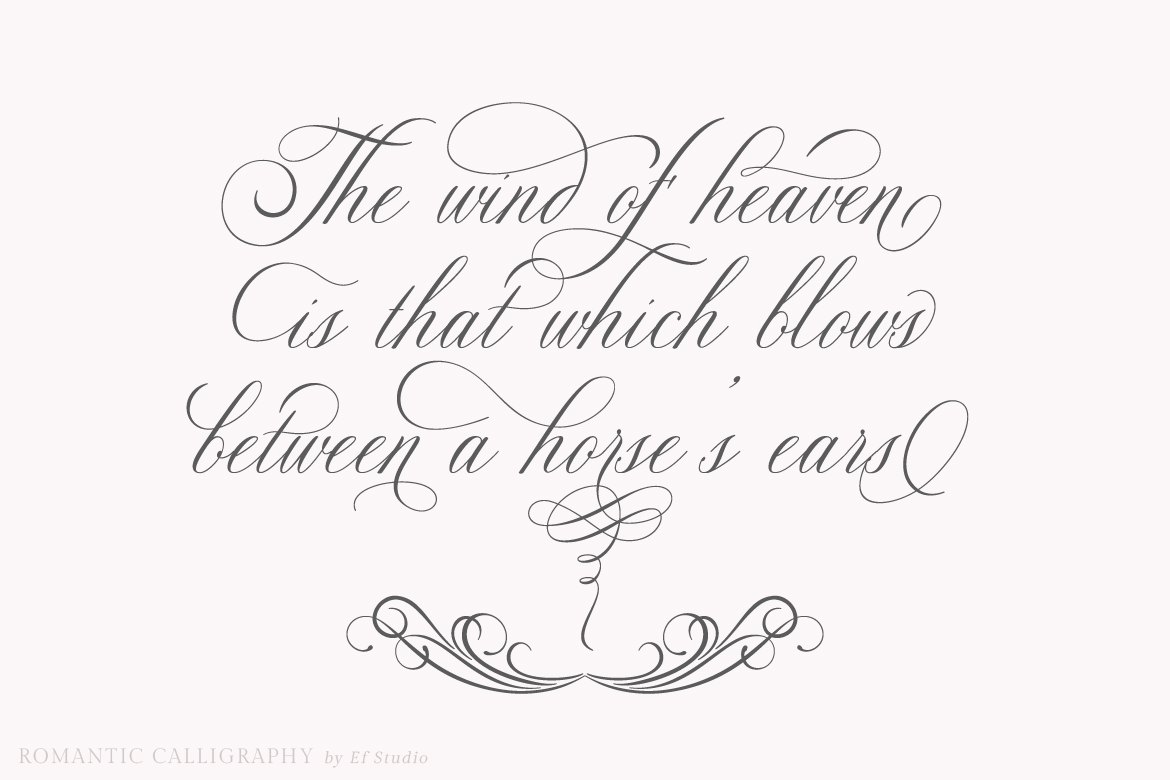 Glaston Romantic Calligraphy example image 2