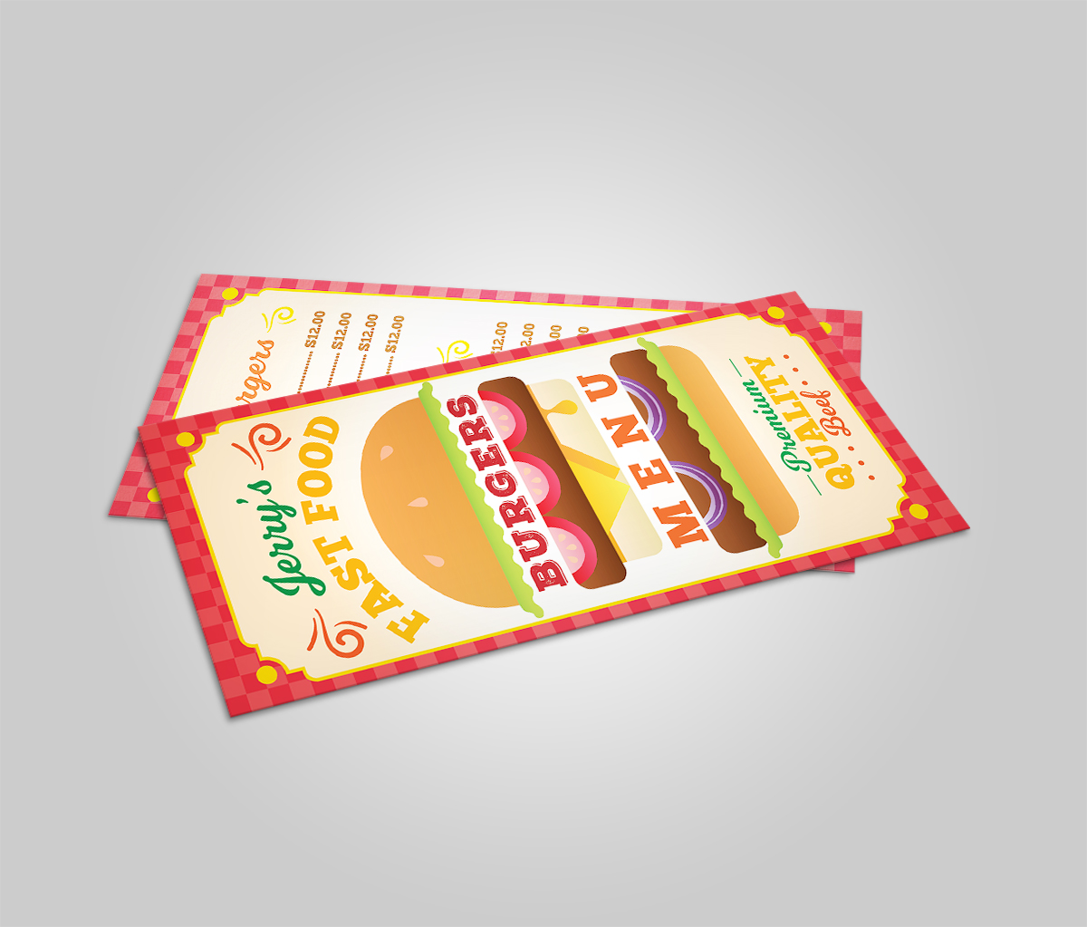 Burger Restaurant Menu Template example image 2