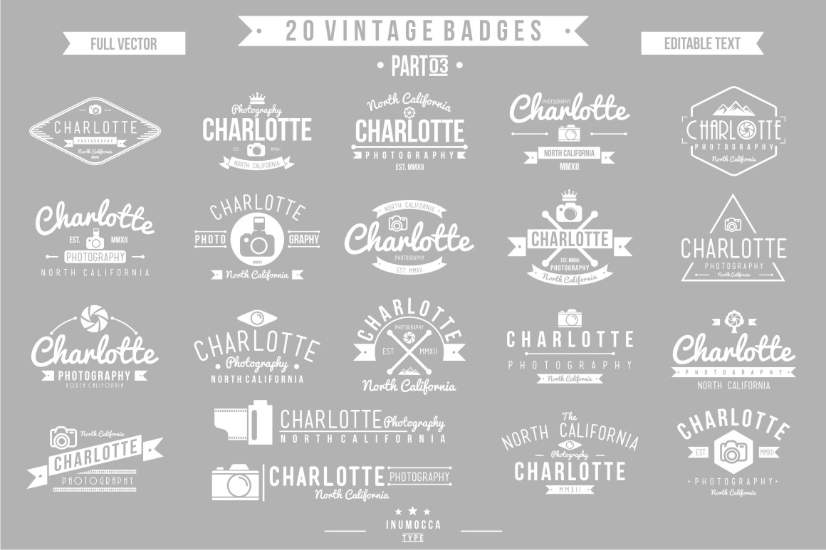 BIG BUNDLE Vintage Badges example image 24