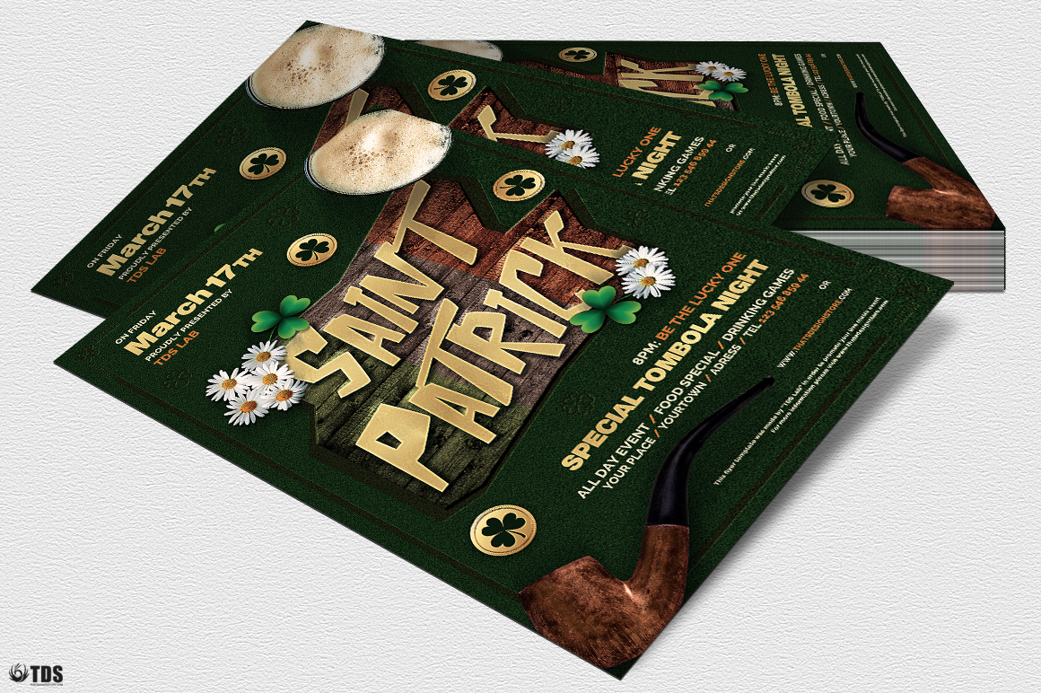 Saint Patricks Day Flyer Template V6 example image 4