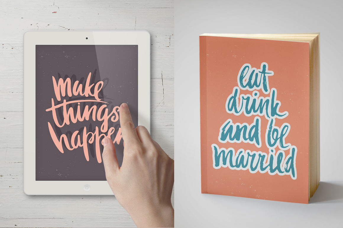 25 Hand Lettering Phrases & Posters example image 5