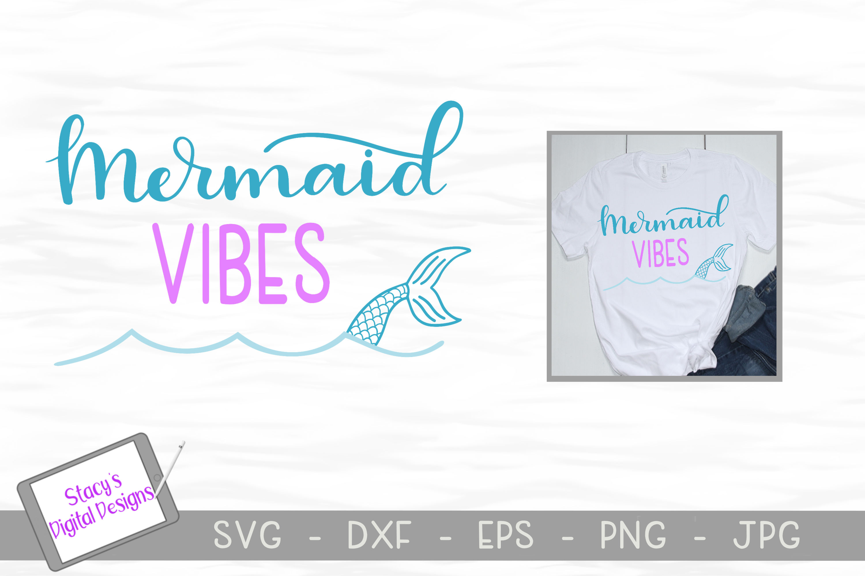 Mermaid SVG Bundle - 4 Mermaid SVG designs example image 3