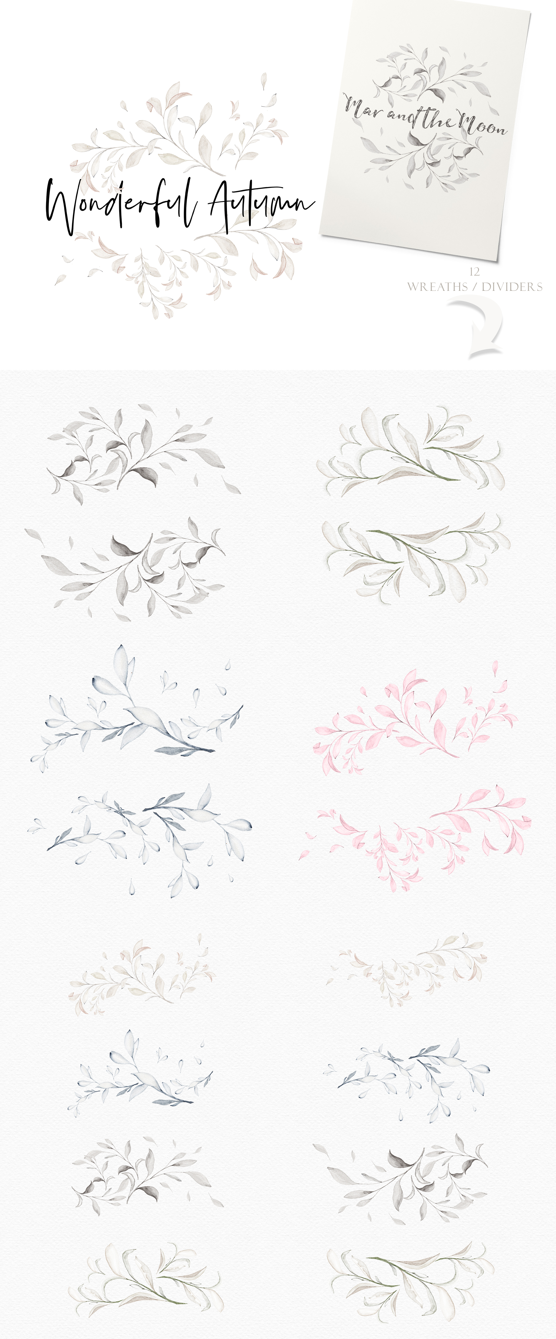 Wonderful Cocoa - Watercolor Clipart Set example image 8