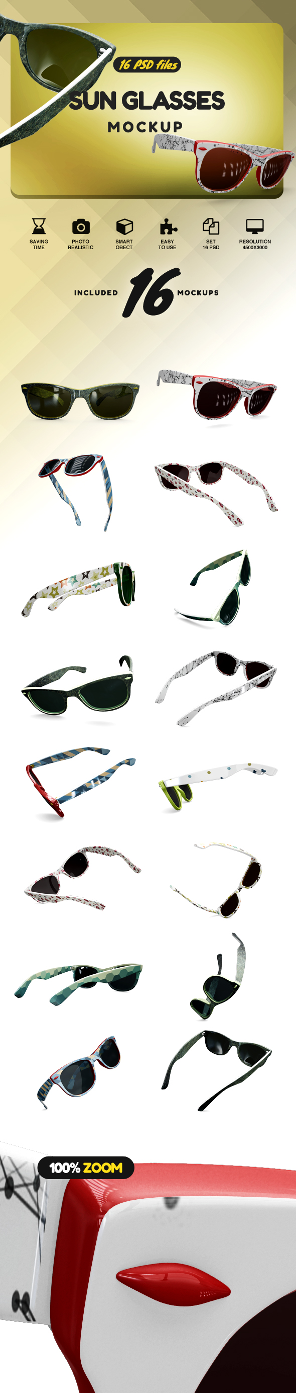 Sun Glasses Mockup example image 2