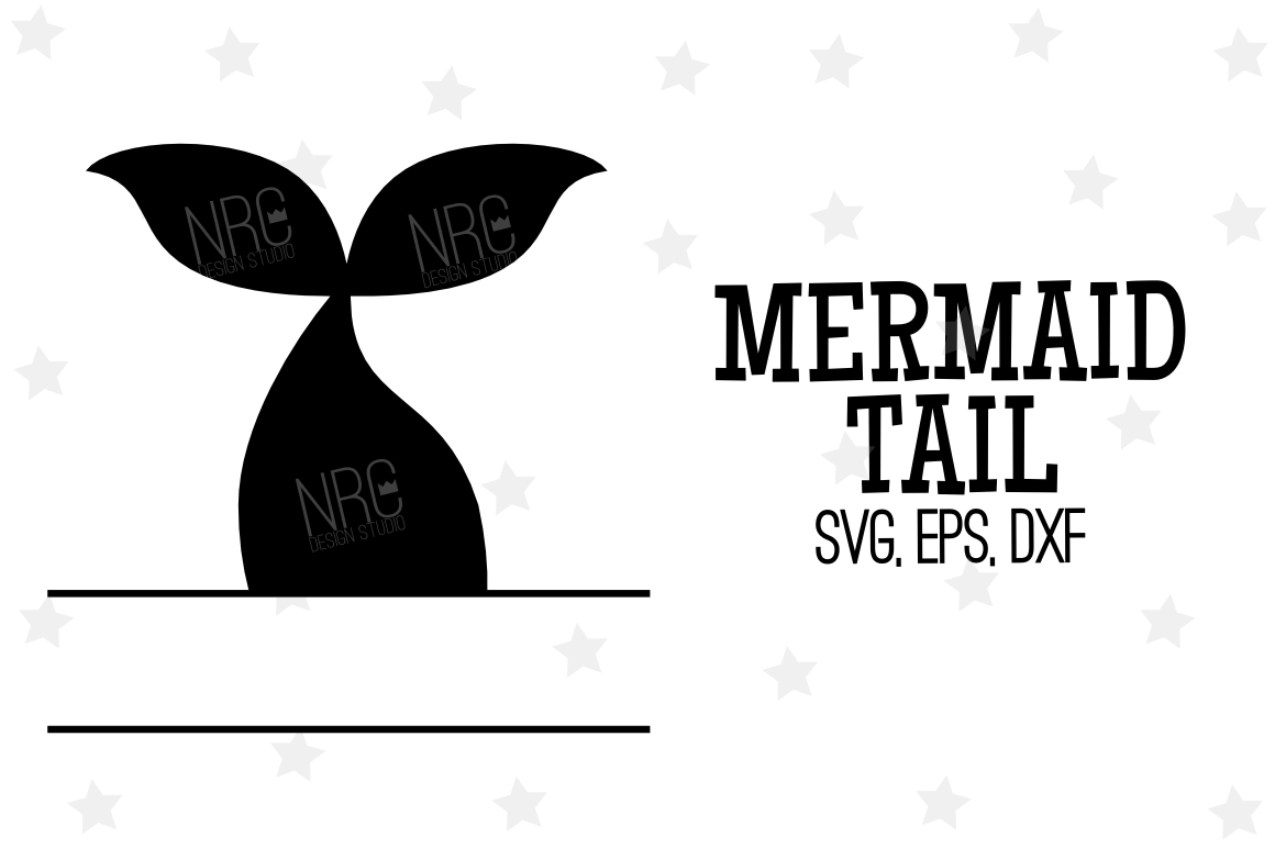 Mermaid Tail Frame SVG File example image 1