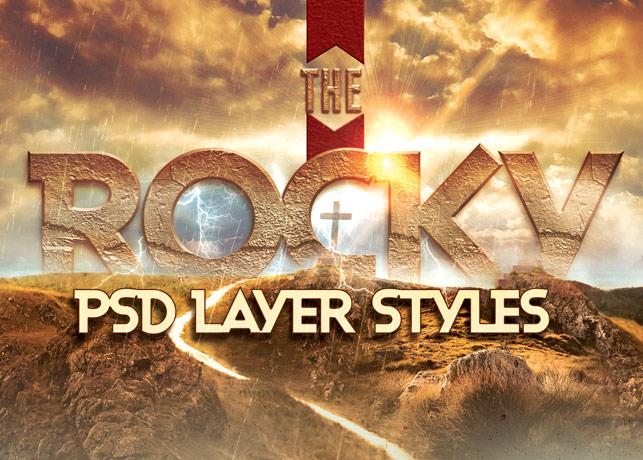 Rocky Photoshop Layer Style