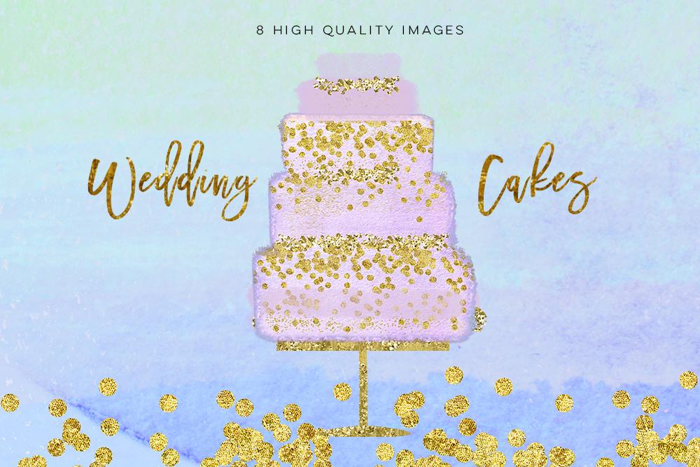 Wedding Clip Art, Hand Drawn bakery wedding cake clip art, Couture Cake, Hand Drawn Cake, Wedding cake party, pastel cake, wedding DIY example image 4
