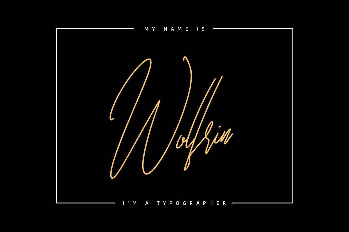 Bettarria - Signature Font example image 4
